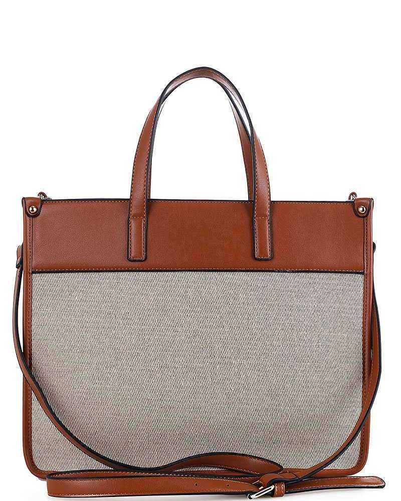 2 IN 1 STYLISH WOVEN SATCHEL WITH LONG STRAP FW-DM-0608