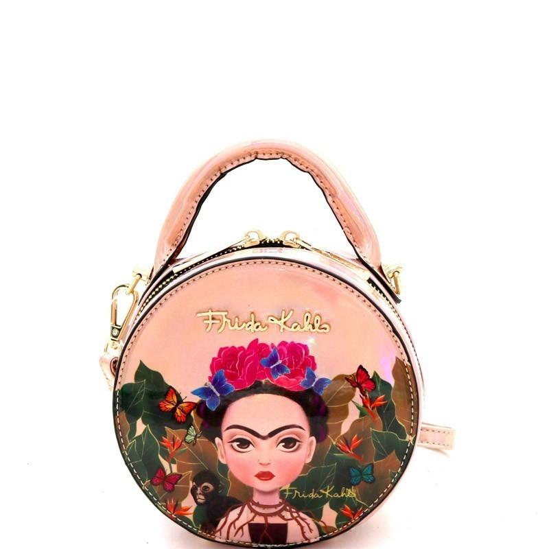 FJC900S Authentic Frida Kahlo Cartoon Series Mini Circle Shape Bag