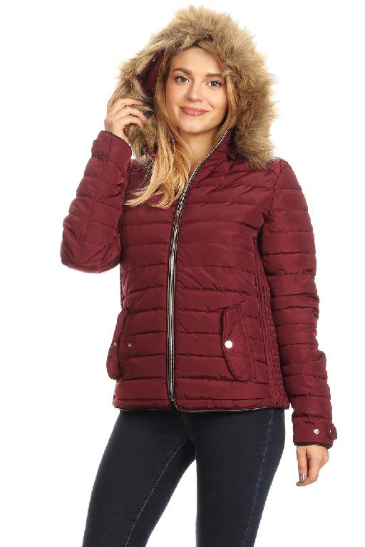 Solid Loose Fit Waterproof Puffer Jacket by Nina Rossi MH