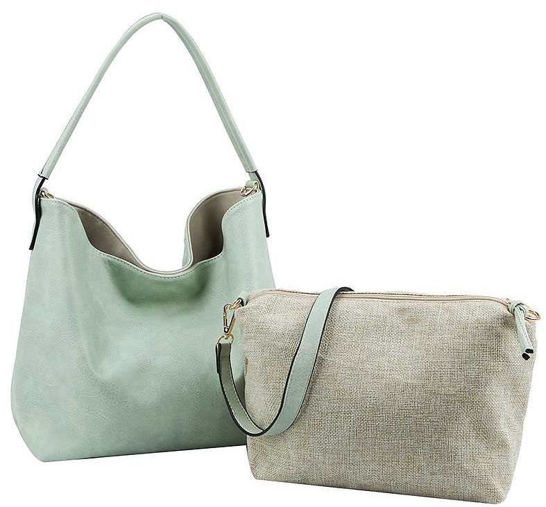 STYLISH TWO COLOR SIDE SATCHEL WITH LONG STRAP JY-LF-1826