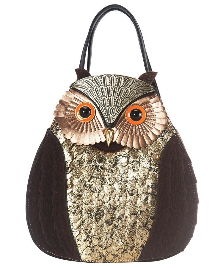 Bird In Hand Owl Shoulder Handbag