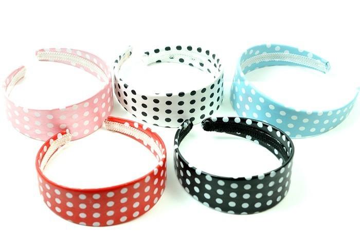 Polka Dot Hair Bands - Pack Of 12   Accessories   Mezon Handbags a904e6e1988