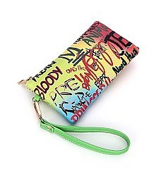 Graffiti Tasseled Clutch Wallet
