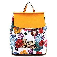 Convertible Flower Leopard Backpack