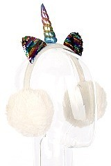 Pack of (12 pieces) Unicorn Theme Trendy Earmuffs FM-A54