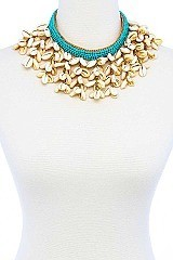 CHUNKY MULTI SEA SHELL NECKLACE