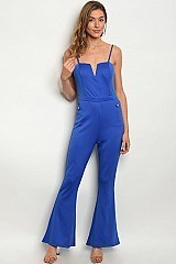 Sleeveless Sweetheart Neckline Flared Bottom Jumpsuit - Pack of 6 Pieces