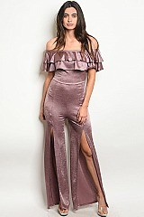 Off the Shoulder Ruffled Jumpsuit - Pack of 6 Pieces