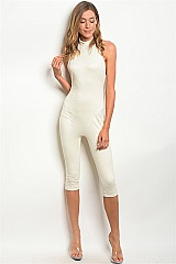 Sleeveless Open Back Fitted Jumpsuit - Pack of 5 Pieces