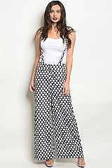Polka Dot Wide Leg Overalls - Pack of 6 Pieces