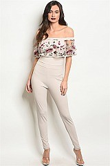 Off the Shoulder Lace Ruffled Jumpsuit - Pack of 6 Pieces