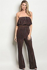 Sleeveless Ruffled Shimmer Jumpsuit - Pack of 6 Pieces