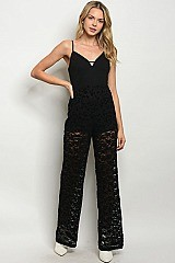 Sleeveless V-neck Full Lace Jumpsuit - Pack of 6 Pieces
