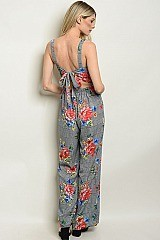 Checkered Floral Jumpsuit - Pack of 5 Pieces