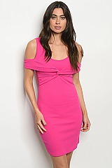 Short FUCHSIA mini Dress - Pack of 6 Pieces