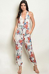 Sleeveless Floral jumpsuit  - Pack of 6 Pieces