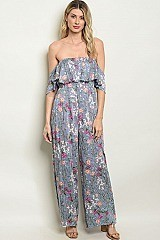 Floral Print Jumpsuit - Pack of 6 Pieces