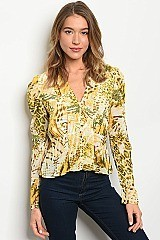 Animal Print Blouse - Pack of 6 Pieces