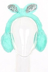 Pack of (12 pieces) Bunny Theme Trendy Earmuffs FMEF103