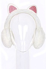 Pack of (12 pieces) Cat Ear Theme Trendy Earmuffs FMEF104