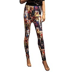 Michelle Obama MAGAZINE COLLAGE PRINT LEGGINGS