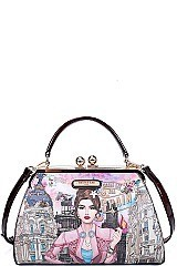 Nicole Lee STYLISH CHIC PRINT SATCHEL