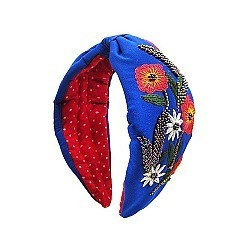 COLORFUL MULTI BEADED FLOWER ART HEAD BAND