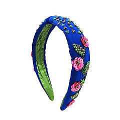 CHIC FLOWER KNOT BEADED ART HEAD BAND