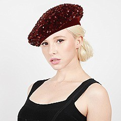 TRENDY SEQUIN COVERED FRENCH BERET