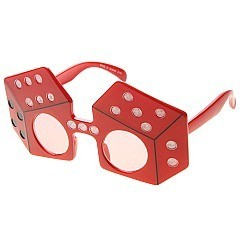 Pack of 12 Dice Novelty Sunglasses