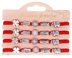 Pack of 4 Red String Protection Bracelet S. MARY