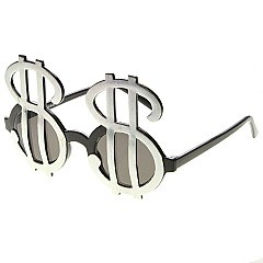 Pack of 12 Dollar Sign Novelty Sunglasses