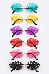 Pack of 12 Palm Leaf Cutout Iconic Sunglasses