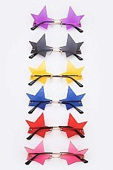 Pack of 12 ICONIC Star Cutout Sunglasses