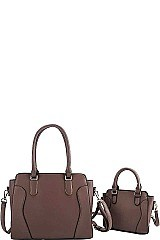 2 IN 1 SATCHEL SET WITH LONG STRAP