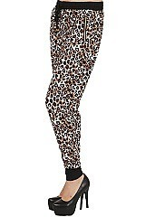 ANIMAL PRINT HAREM LEGGINGS FM-LGS125