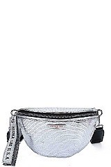 METALLIC GLOSSY WAIST BAG BY Nicole Lee
