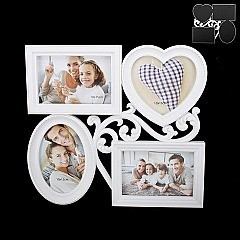STYLISH PUZZLE PICTURE FRAME 4- 4 X 6 SLPIC912