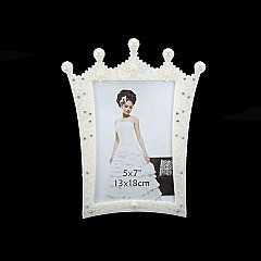 STYLISH PRINCESS CROWN FRAME W/ DIAMONDS 5 x 7 SLPIC923