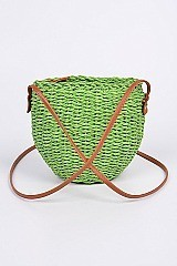 Bucket Paper Straw Clutch
