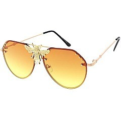 Pack of 12 Bee Accent Gradient Sunglasses