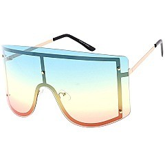 Pack of 12 Temple Frame Shield Sunglasses