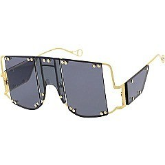 Pack of 12 Exposed Frame Shield Sunglasses