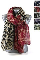 Pack of (12 pieces) Animal Print Scarves FM-SF159