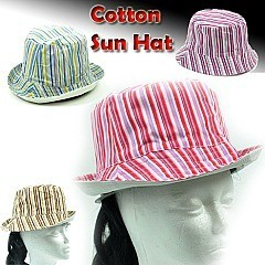 Stripe Cotton Sun Hat