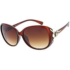 Pack of 12 Metal Accented Frame Shield Sunglasses