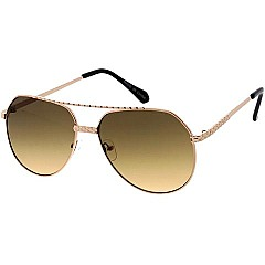 Pack of 12 Tinted Gold Rim Aviator