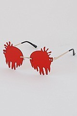 Pack of 12 Dropping Blood Sunglasses