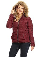 Solid Waterproof Fitted Puffer Jacket By Nina Rossi