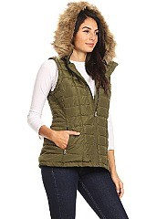 Solid Loose Fit Waterproof Vest By Nina Rossi